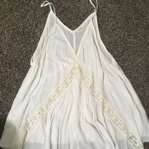 Boutique Tunic Tank Off White Lace S